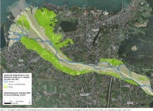 Ehemalige Ausbreitung der Auwälder 1827. aus: Auwaldstudie UMG 2014