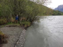 Cosenz - Mündung mit Naturschutzbund-Obfrau